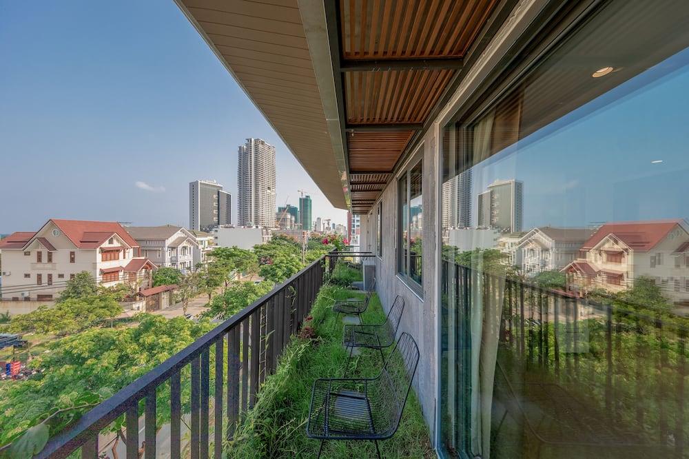 家庭開放式套房, 2 間臥室, 陽台, 城市景觀 - 陽台