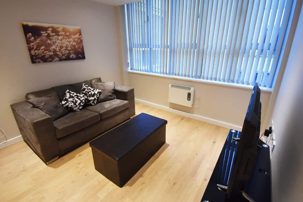 อพาร์ทเมนท์, เตียงใหญ่ 1 เตียง, ปลอดบุหรี่ - พื้นที่นั่งเล่น