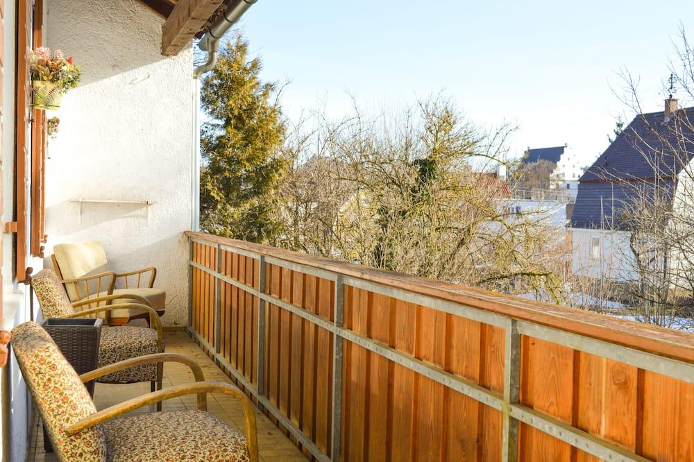Comfort-værelse - 2 soveværelser - udsigt til have - have-område - Altan