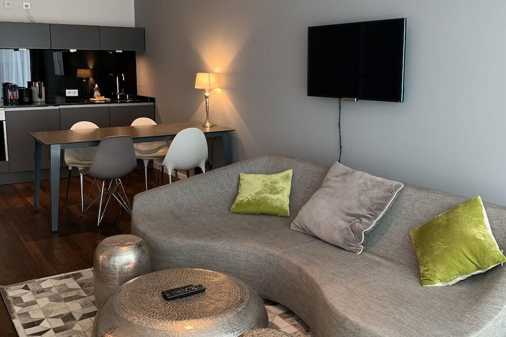 Business studio, 1 kingsize bed, niet-roken, Balkon - Woonruimte