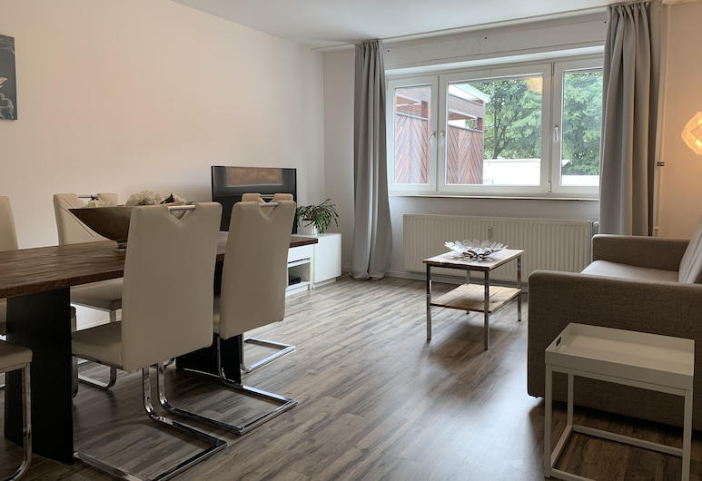 伊姆霍夫朱古力博物館城市公寓酒店, 科隆, 都會公寓, 2 間臥室, 非吸煙房, 城市景, 客廳