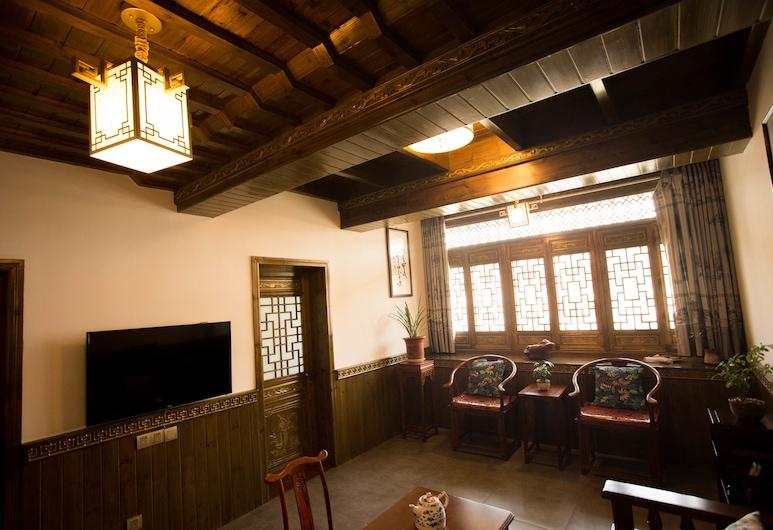 Xingzhuzhai Inn, חואנגשאן, סוויטת סיגנצ'ור, נוף לעמק, סלון