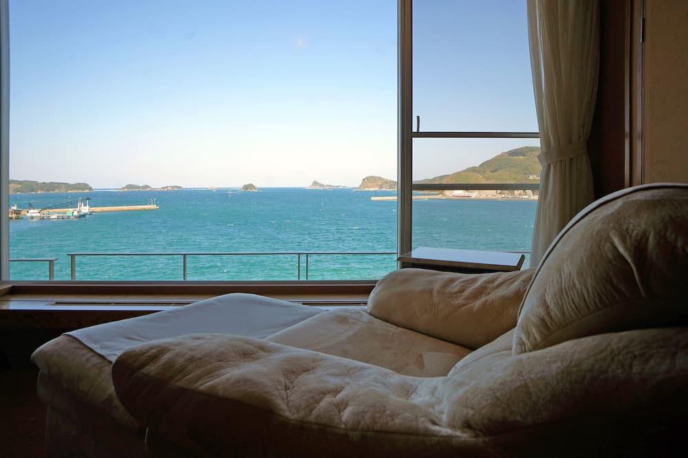 Kamar Twin Premium, 2 kamar tidur, kamar mandi pribadi, pemandangan laut (Open air-Bath) - Kamar Tamu