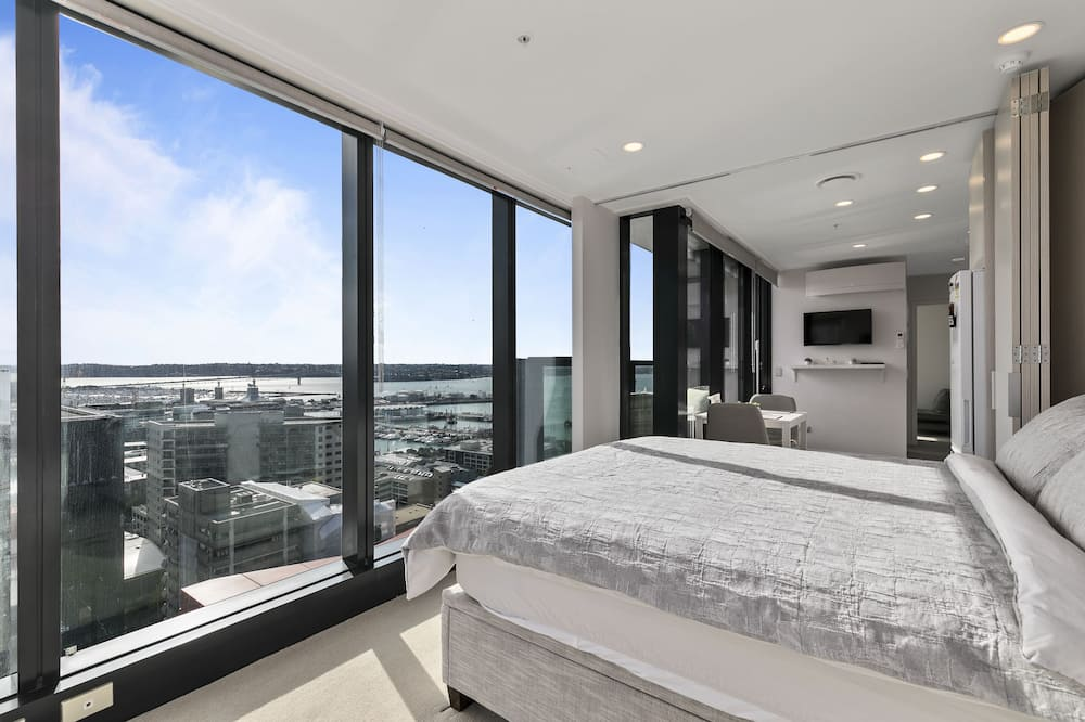 Романтические апартаменты, 1 двуспальная кровать «Квин-сайз», вид на гавань - Главное изображение