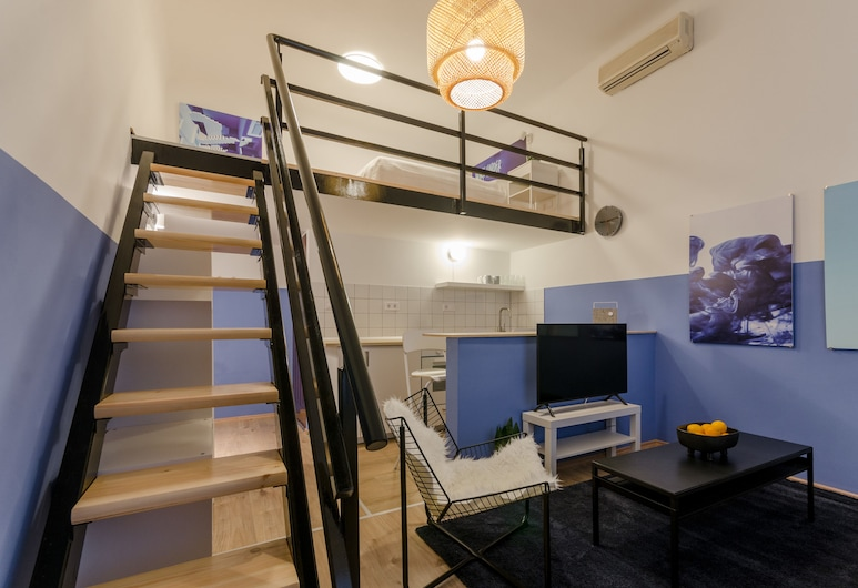 Blue Tee Apartment, Βουδαπέστη, Διαμέρισμα, 1 Queen Κρεβάτι με Καναπέ-Κρεβάτι, Μη Καπνιστών, Θέα στην Πόλη, Δωμάτιο