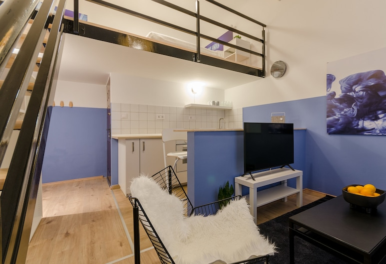 Blue Tee Apartment, Budapest, Apartment, 1 Queen Bed with Sofa bed, Non Smoking, City View, Room