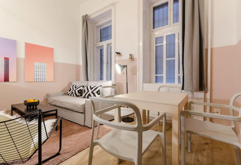 Mallow Tee Apartment, Budapeszt, Apartament, Łóżko queen i sofa, dla niepalących, Powierzchnia mieszkalna