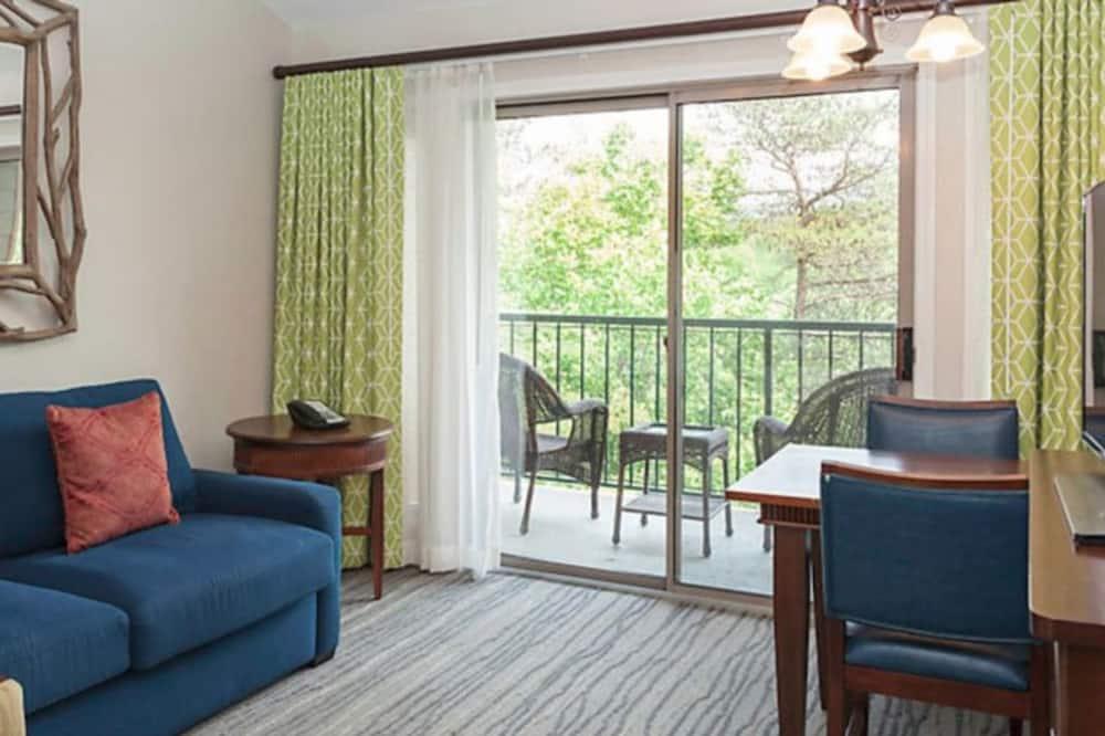 Вилла, 1 спальня, кухня - Зона гостиной