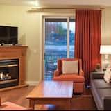 Lägenhet - 2 sovrum - eldstad - Vardagsrum