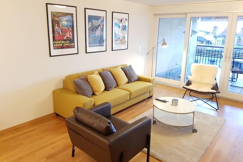Appartamento, 2 camere da letto, terrazzo, vista lago (Apartment 7.3) - Area soggiorno