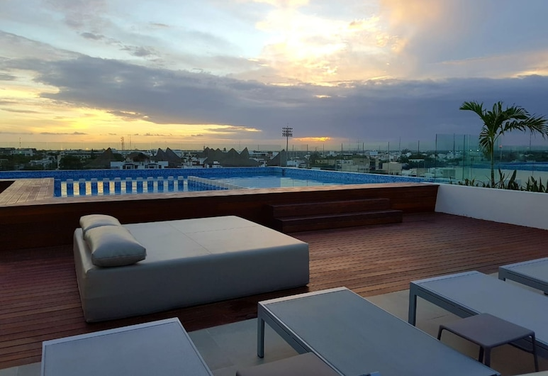 Cute 1 BR in amazing location by Happy Address, Playa del Carmen, Pool på tagterrassen