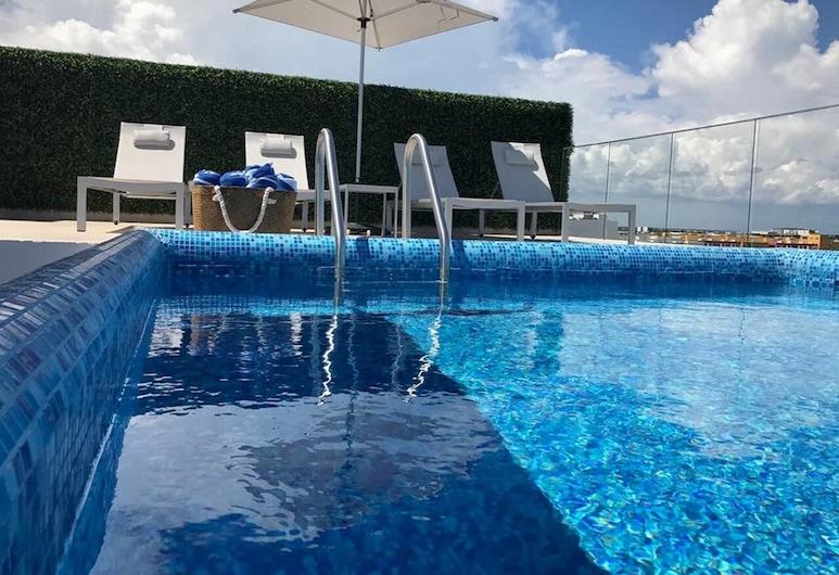 Penthouse con Alberca Privada Vista al Mar, Playa del Carmen, Apartment, 2 Bedrooms, Living Area