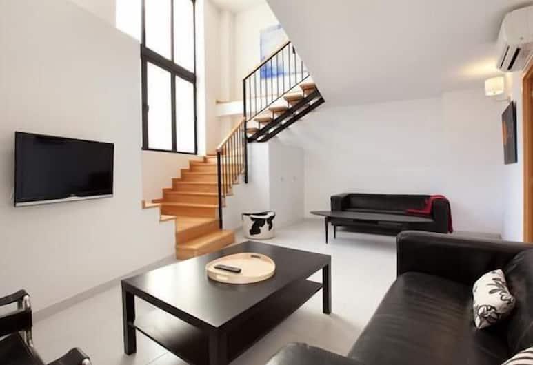 Park Guell Apartments, Barselona, Apart Daire, 3 Yatak Odası (Carrer de la Aldea 16), Oturma Odası