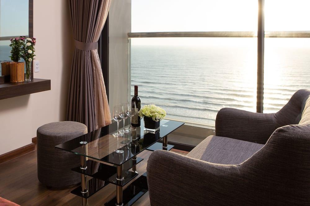 Nolis Double Room, Sea View - Living Area