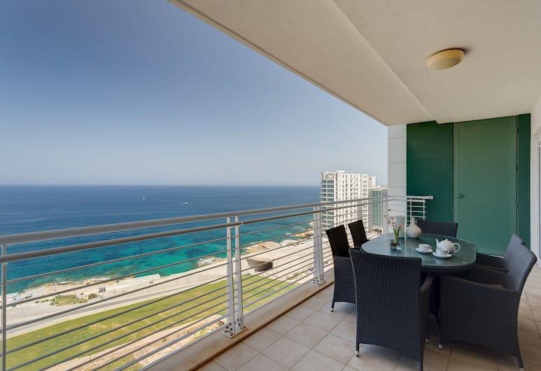Seafront LUX Apartment wt Pool, Upmarket Area, Sliema, Apartment, 3 Bedrooms, Balkoni