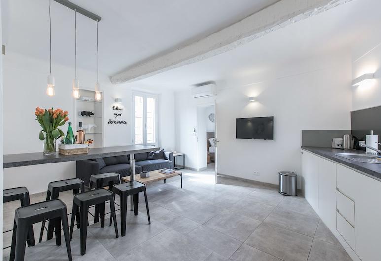 2 Pièces Balcon 4 Pers, Cannes, Appartement, Coin séjour