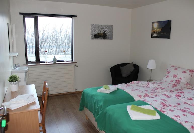 Skammidalur Guesthouse, Vik I Myrdal, Habitación con 1 cama doble o 2 individuales, baño compartido, Habitación
