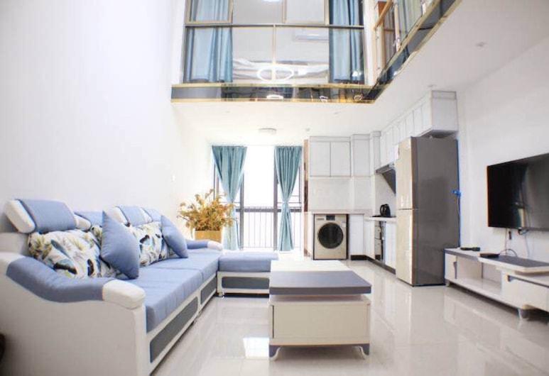 萬隆國際公寓 - 香雪地鐵站店, 廣州市, 尊貴複式雙床套房, 客房