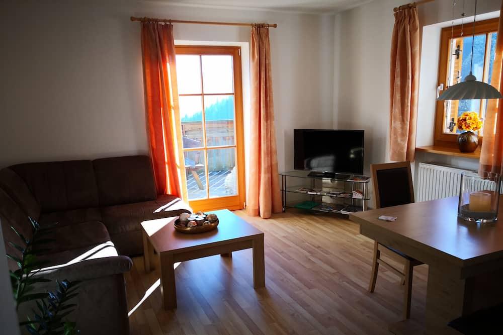 Appartement, uitzicht op bergen - Woonkamer