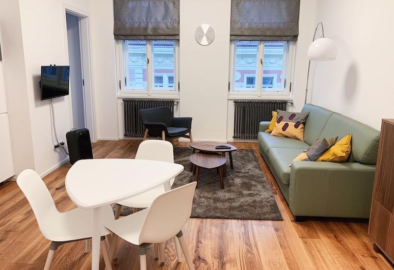 Residence Gregorius, Prag, Lägenhet Comfort - 1 kingsize-säng med bäddsoffa - icke-rökare - utsikt mot staden, Rum