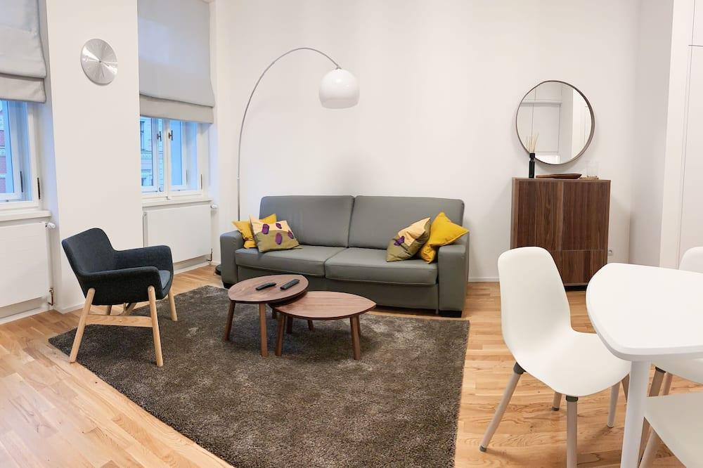 Apartamento, 1 cama King com sofá-cama, para não fumantes - Quarto