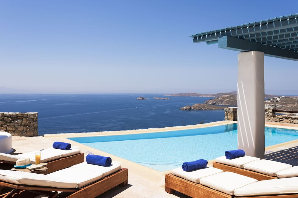 Luxury Villa, Sea View Private Pool (Elpida) - Infinity Pool