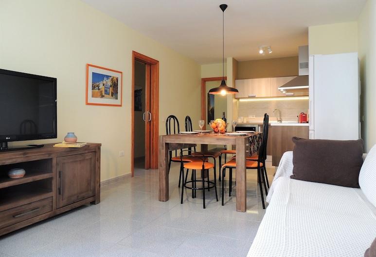 Medano Village, Granadilla de Abona, Apartment, 3Schlafzimmer, Balkon, eingeschränkter Meerblick, Wohnbereich