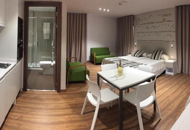 Apartamentos Turisticos Pueri Cantores, Burgos, Design-Apartment, 3Einzelbetten, Zimmer