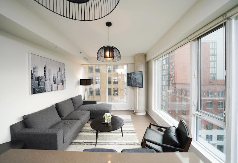 Grand Royal Condos - Toronto, Toronto, Business appartement, 1 tweepersoonsbed, niet-roken, Uitzicht op de stad, Ingang binnen