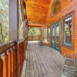 Huisje, Meerdere bedden, bubbelbad, uitzicht op bergen - Balkon