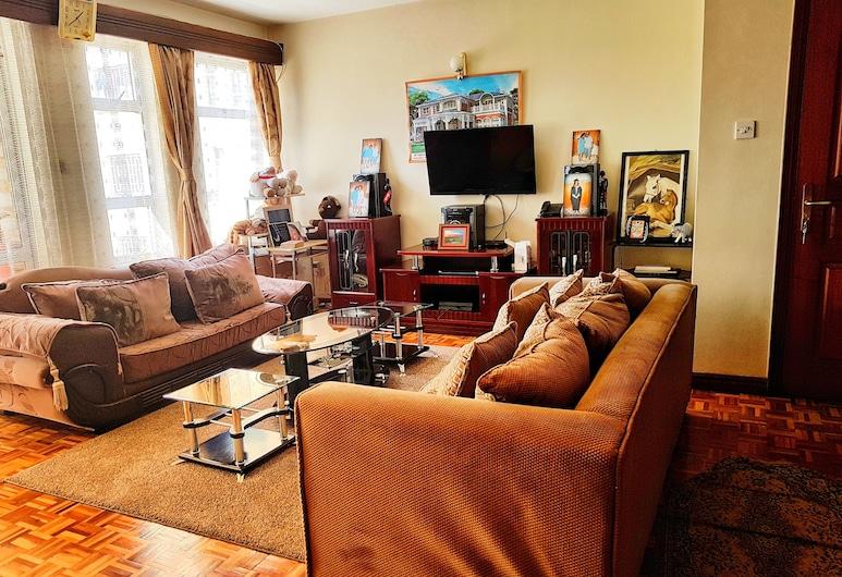 Home Away from Home in Kilimani, Nairobi, Apartamento Superior, 2 Quartos, Sala de Estar