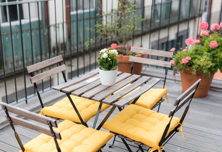 聖瑪麗亞公寓飯店, 芳夏爾, 公寓, 1 間臥室, 露台, 城市景觀, 露台