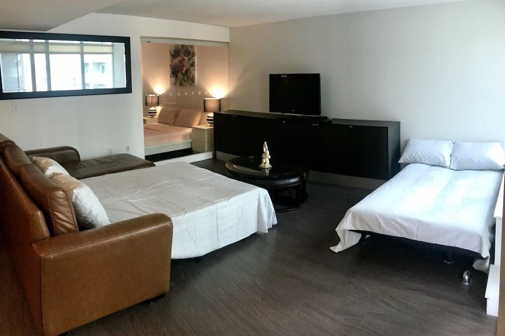 City apartman, több ágy, nemdohányzó, kilátással a városra - Nappali rész