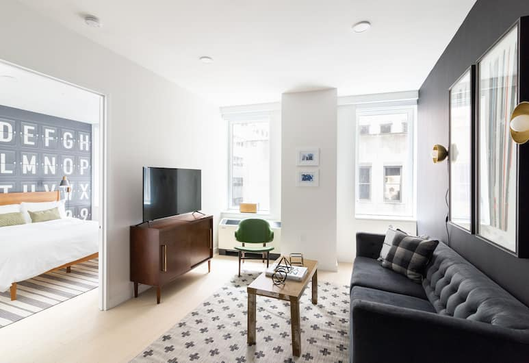 Sonder - Stock Exchange, New York, Suite Deluxe, 2 chambres, Coin séjour