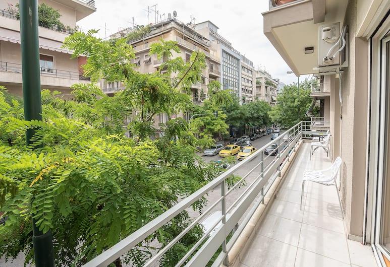 Victoria Familia Apartments, Atėnai, Apartamentai, Balkonas