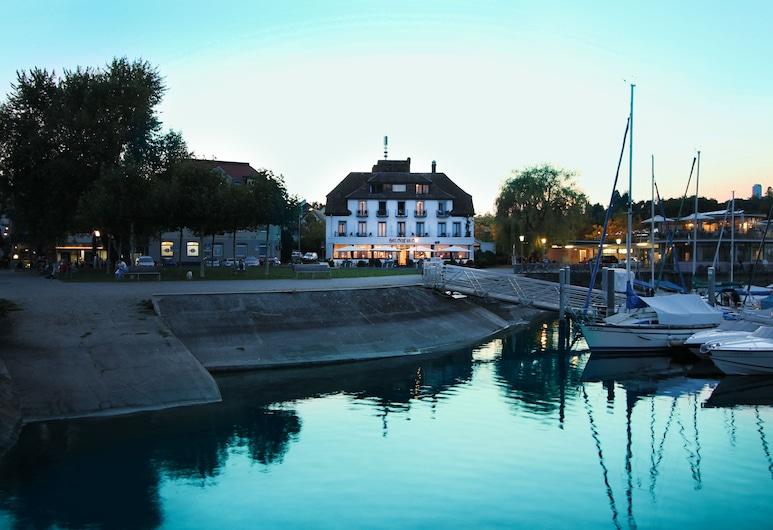 Schiff am See, Konstanz, Hótelframhlið - að kvöld-/næturlagi