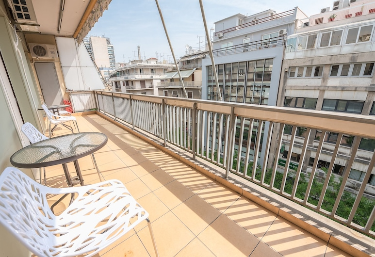 Victoria Super Paradise Apartments 5th Floor, Atenas, Apartamento, Varanda