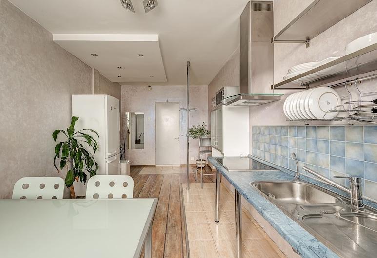 Domumetro Apartment on Varshavskoye, Moskva, Leilighet – standard, 1 kingsize-seng med sovesofa, ikke-røyk, Eget kjøkken