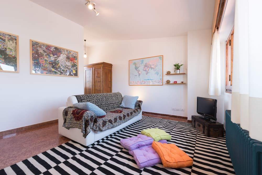 Appartamento Deluxe, 1 camera da letto, vista città - Area soggiorno