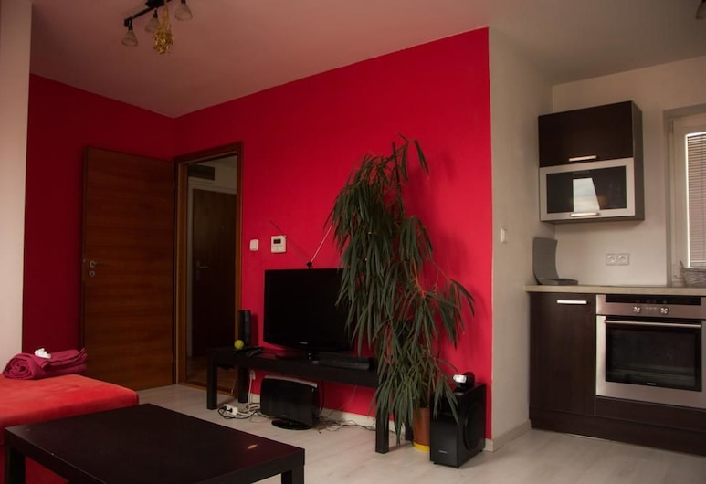 Stylish attic in Prague, Prague, Comfort Apartment, Living Room
