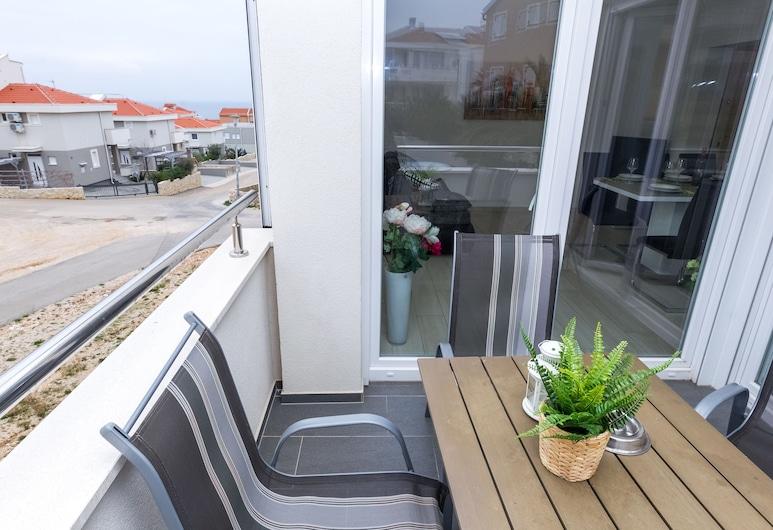 Apartments Adria, Novalja, Comfort appartement, 2 slaapkamers, terras (Adria A4), Balkon