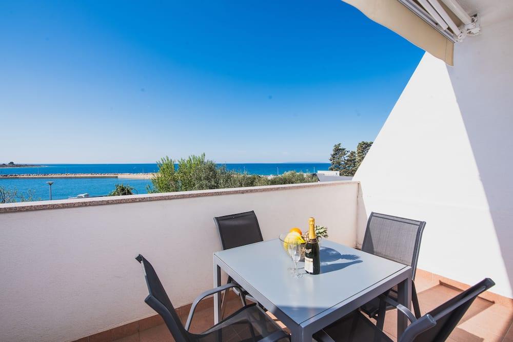 Comfort studio apartman, 1 spavaća soba, terasa, pogled na more (A3) - Balkon