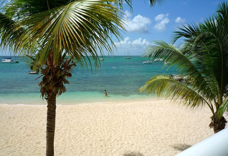 Superb Beachfront Studio with Ocean View in Marigot, Merigota, Terase/iekšējais pagalms