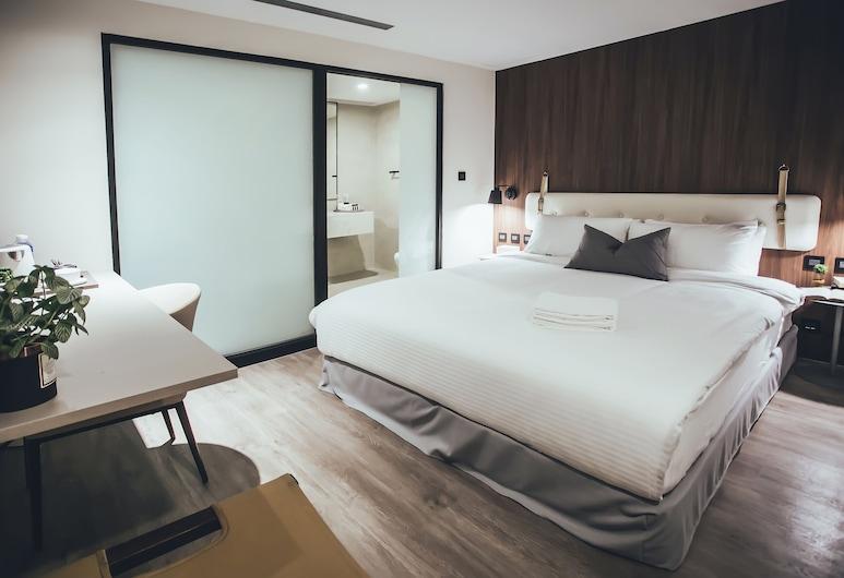 樂居微風, 台北市, 高級雙人房, 非吸煙房, 無窗, 客房