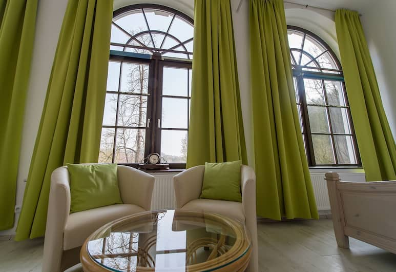 Penzion Zámecká Zahrada, Cesky Krumlov, Deluxe suite, Woonruimte