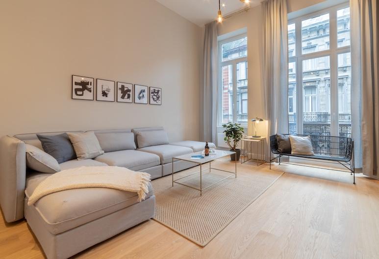 Sweet Inn Apartments - Petit Sablon, Brüssel, Deluxe-Apartment, Balkon (2nd- Floor Allard II), Zimmer
