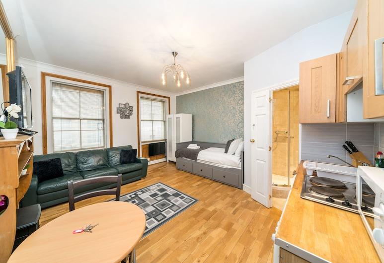 皮卡迪利圓環奢華開放式公寓酒店, 倫敦, 奢華開放式客房, 1 張標準雙人床及 1 張梳化床, 非吸煙房, 客房