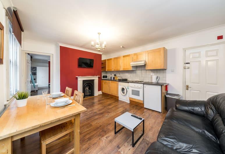 Old Street Apartments, Londen, City appartement, 2 tweepersoonsbedden, niet-roken, Uitzicht op de stad, Woonruimte