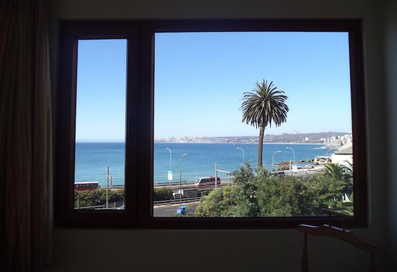 B&B 18 de Septiembre, Vina del Mar, Pokój standardowy, Łóżko queen, dla niepalących, widok na morze, Widok z pokoju