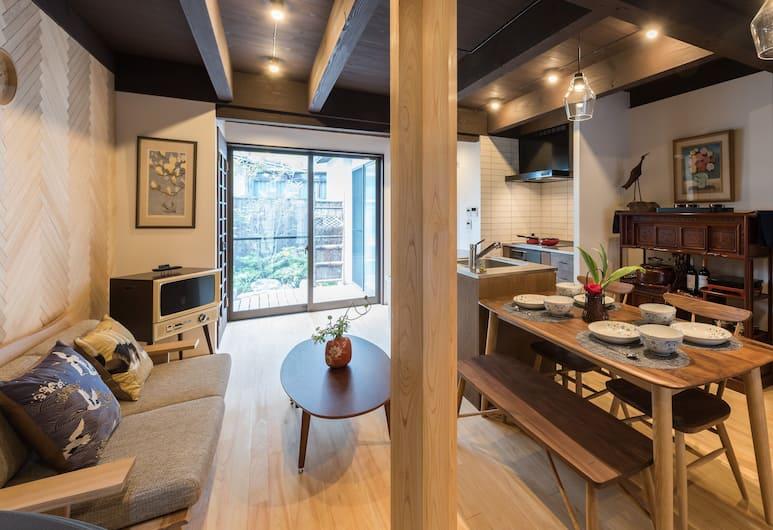 京町屋二條紅白酒店, Kyoto, 單棟房屋 (Private Vacation Home), 客廳